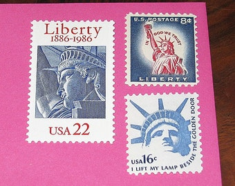 Lady Liberty II .. Unused Vintage US Postage Stamps .. Enough to mail 5 letters