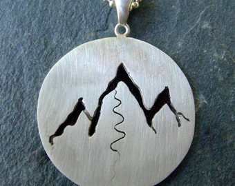 Wasatch Mountains Sterling Silver Pendant