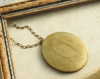 Big Locket Necklace, Long Necklace,  Layering Necklace