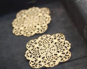 Gold Filigree Earrings, Gold Dangle Earrings, Gold Chandelier Earrings, Big Gold Earrings