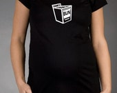 Bun in the Oven - Black Short Sleeve Maternity T-shirt