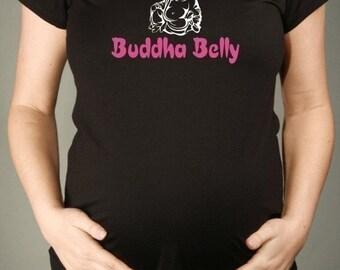 Cute Maternity Tshirt, I Love My BUDDHA BELLY