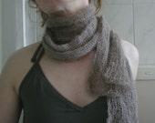 angora scarf, handspun