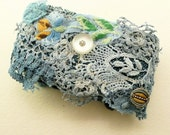 Vintage Cuff\/ easy blue lace