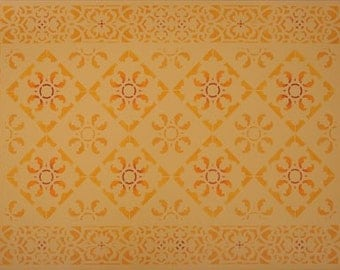 Freesia Floorcloth