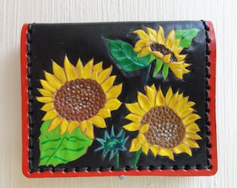 Sunflower leather ID Case