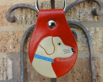 Key Fob with Yellow Lab