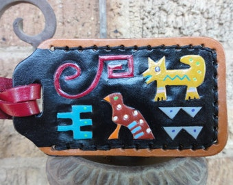 Luggage Tag with Indian Animals