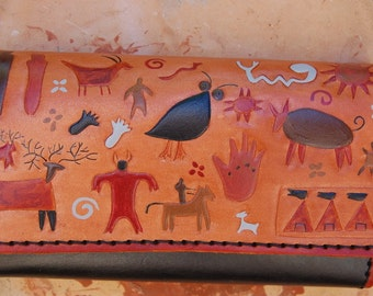 Petroglyph leather Purse