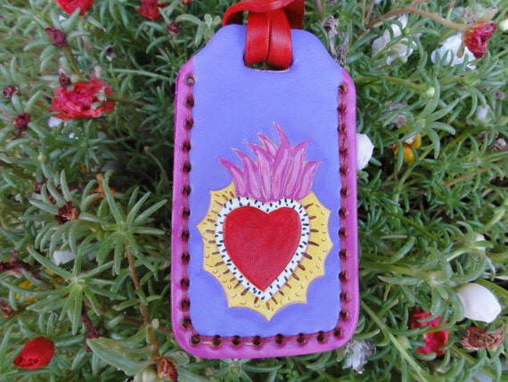 Luggage Tag with Sacred Heart