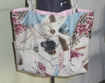 SALE, Large Tote Bag, Handmade Tote Bag, Recycled Fabrics, Inside Pocket, Unique Bag, African Theme, Shopping Bag, Animals, Shoulder Bag,Eco