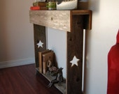 Console table. Skinny Table. Entry way STARS Primitive Furniture Thin Table Small Space Recycled Wood Furniture 30x7x30