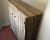 Recycled Wood Cabinet Large Wood Storage Cabinet. Recycled Wood Furniture. Wood Pantry. Eco Furniture. Country Home Decor Barn Wood