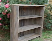 Eco Friendly Wood Bookcase.  Raw Wooden Furniture, Country Furniture Shabby, Reclaimed Cedar, Primitive Farm House Decor