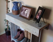 Console Table. Rustic Entry Table Wall Table 36 x 13 x 30 White Table. Farmhouse White Table. Distressed  Rustic Furniture French Country