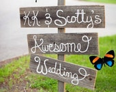 Wedding Sign Country Wedding Outdoors Cursive Hand Painted Wood. Directional Arrow Wooden Sign Reception Signs. Outdoor Wedding Decorations
