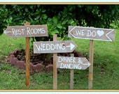 Country Cowgirl Wedding Signs with Stakes Outdoor Wedding Decorations Wooden Wedding Signs, Rustic Wedding, Country Wedding WE DO SIGN