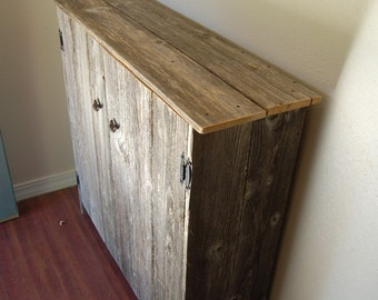 Recycled Wood Cabinet Large Wood Storage Cabinet. Recycled Wood Furniture. Wood Pantry. Eco Furniture. Country Home Barn Wood
