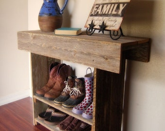 Console Table. Wood Entry Way or Wall Table 26 x 13 x 30 Wall Table Runner. Wood Furniture. Rustic Wood Table