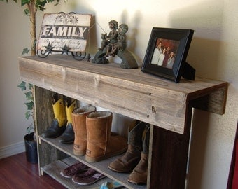 large console wood table large entry table recycled furniture console country home wood