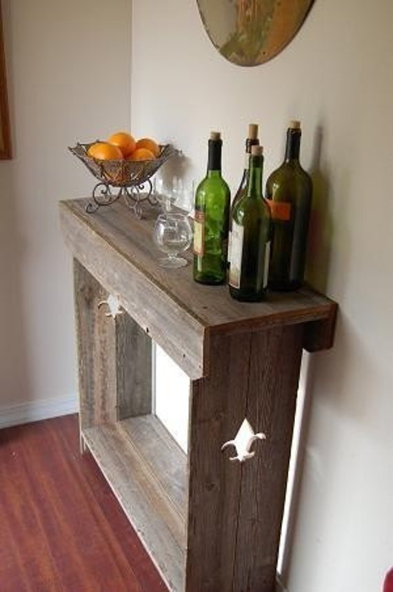 Console Table Mini Bar Hanging Wine Glass By Trueconnection