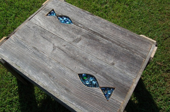 Items Similar To Fish Side Table Coffee Table Lake House Decorations Beach House Table Reclaimed Wood Furniture Organic Coffee Table True Connection On