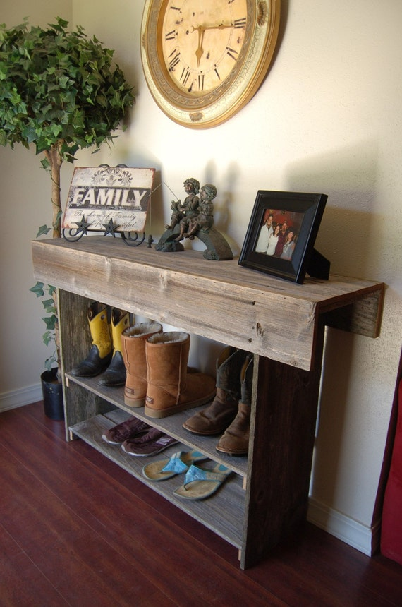 Large Console Wood Table. Large Entry Table. Recycled