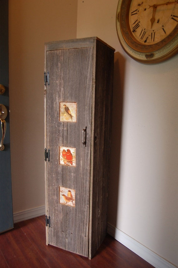 Items Similar To Wood Pantry Storage Cabinet Love Bird