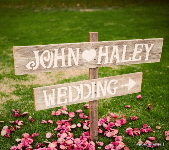 Simple Romantic Wedding Ideas: Wedding Signs Romantic Outdoor Weddings LARGE FONT Hand