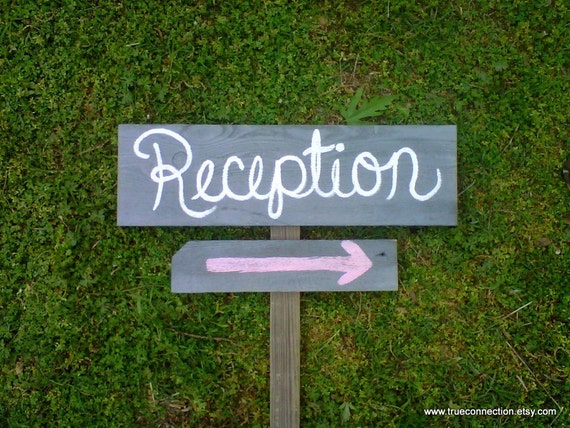 Items Similar To Wedding Reception Sign Directional Arrow Sign PERSONALIZED Sign Country Brides