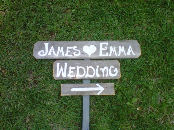 Personalized Wedding Signs Name Date Sign Outdoor Weddings