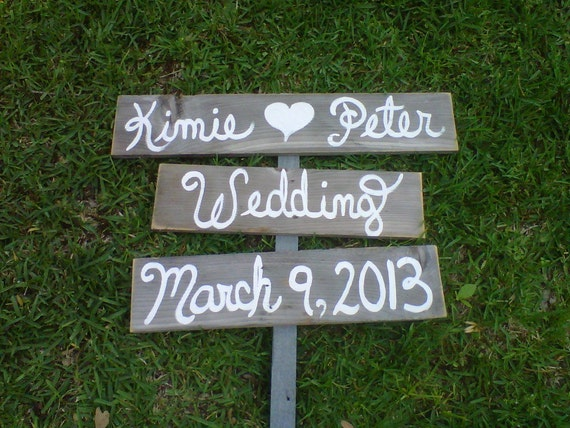 Items Similar To Script Wedding Sign Country Weddings