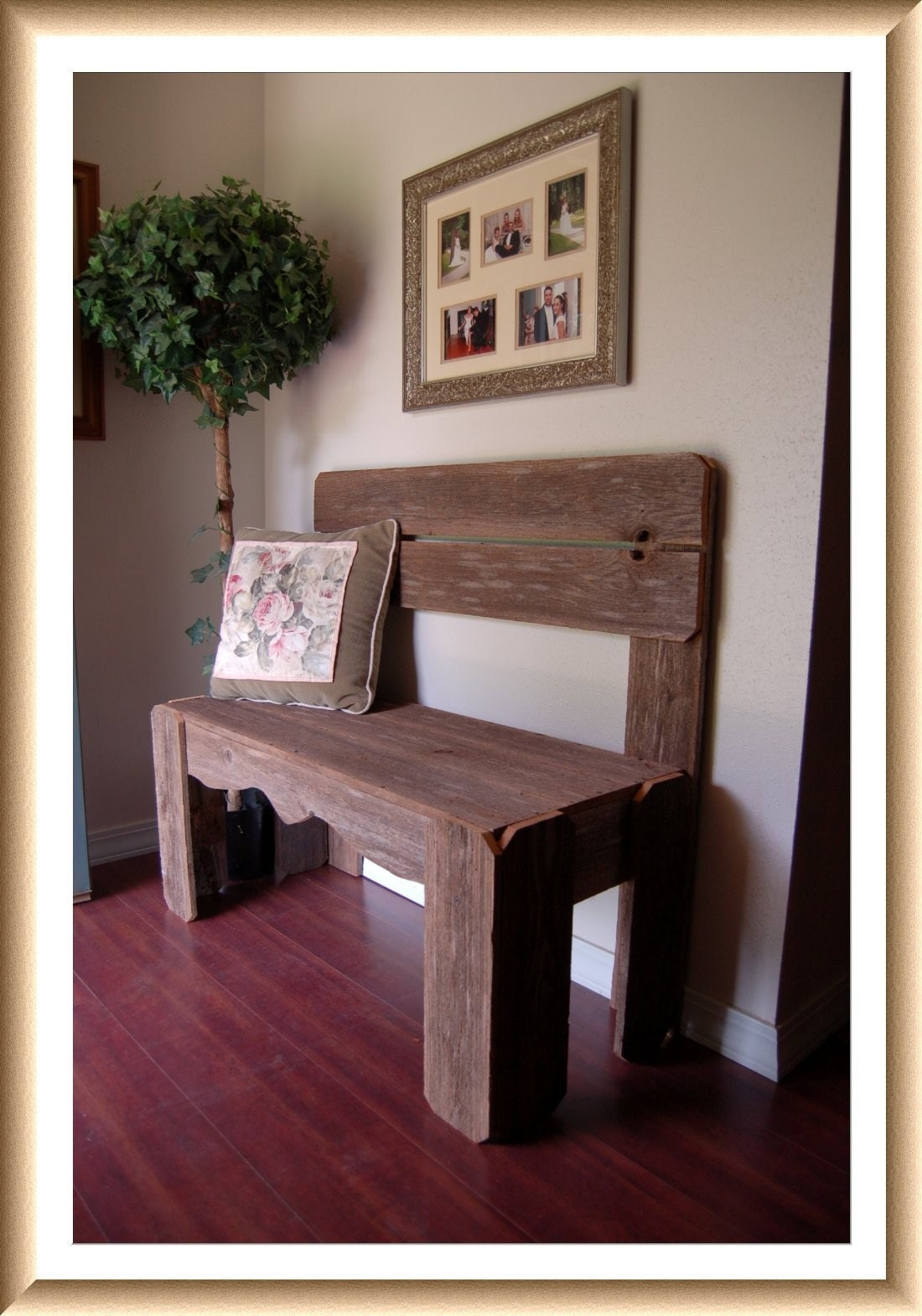 Reclaimed Wood Bench Charming Rustic Furniture By