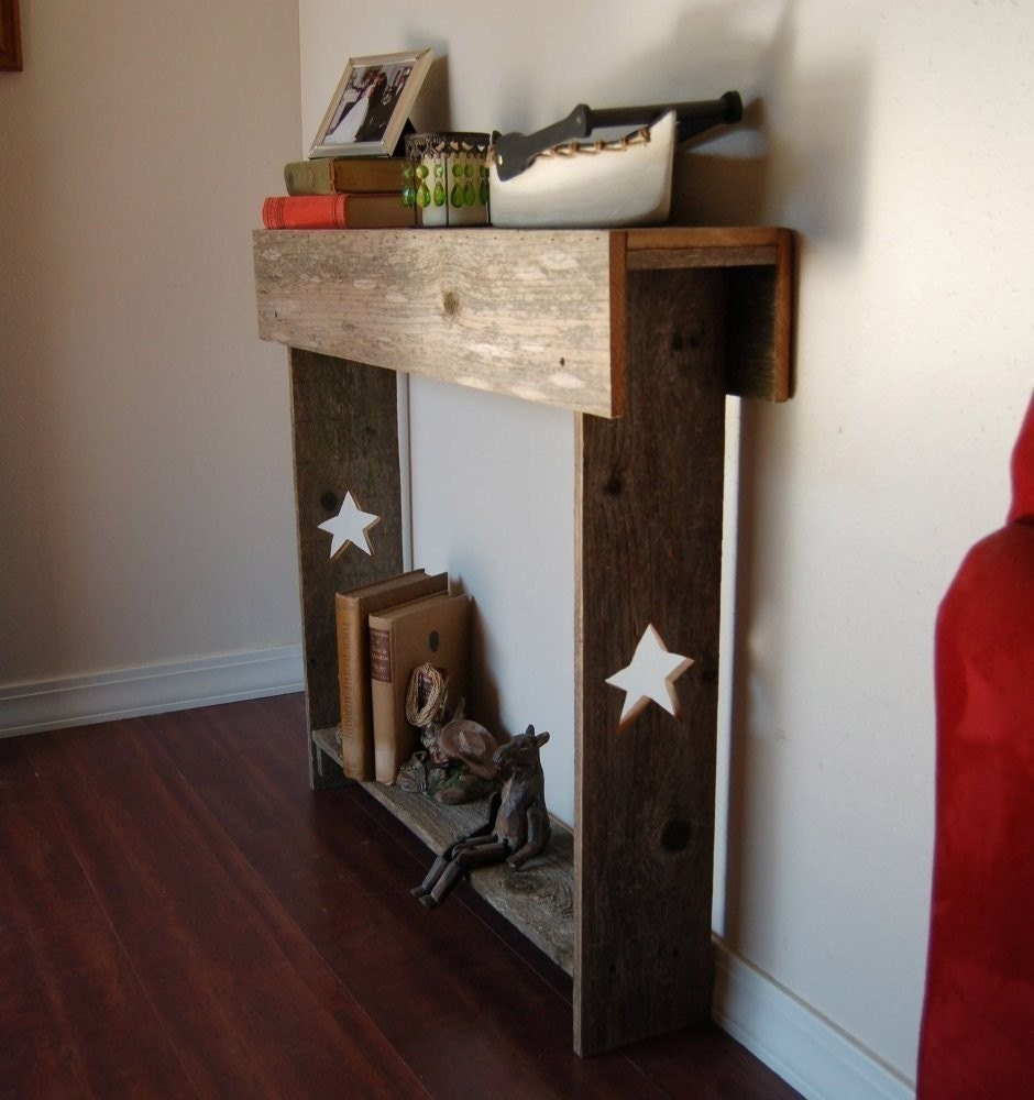 Console table skinny table entry way stars primitive for Skinny console table
