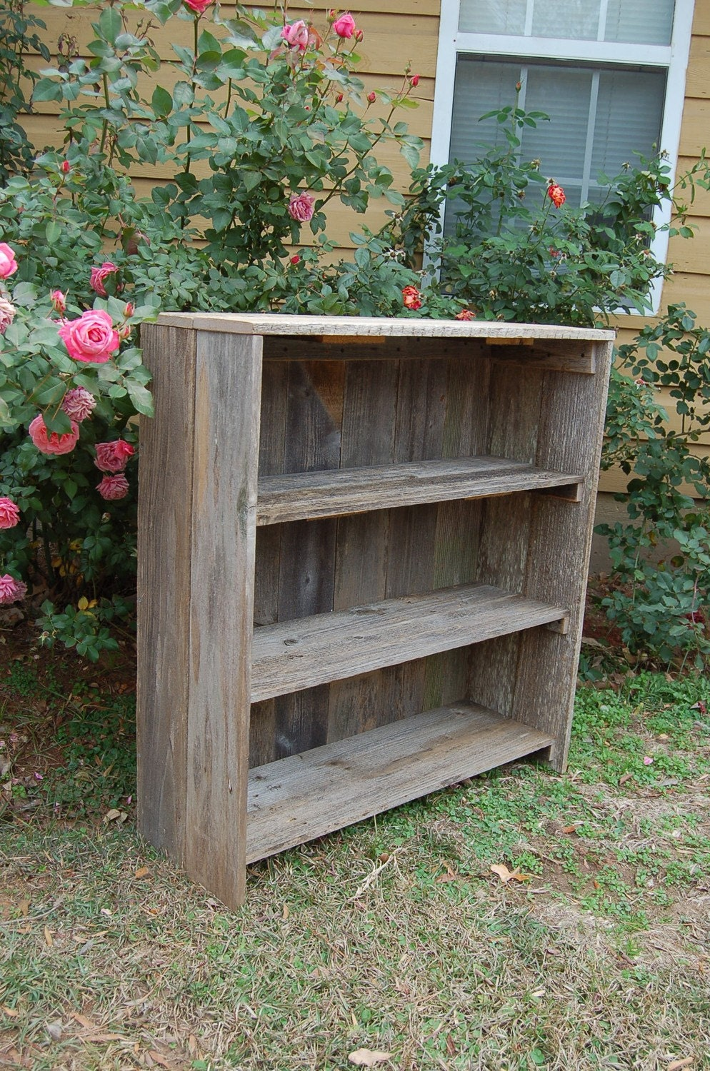 Eco Friendly Wood Bookcase Raw Wooden Furniture Country