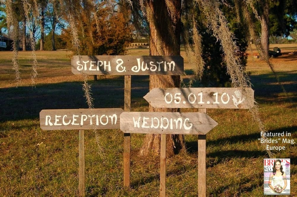 Wedding Signs WITH Stakes Outdoor Wedding By TRUECONNECTION