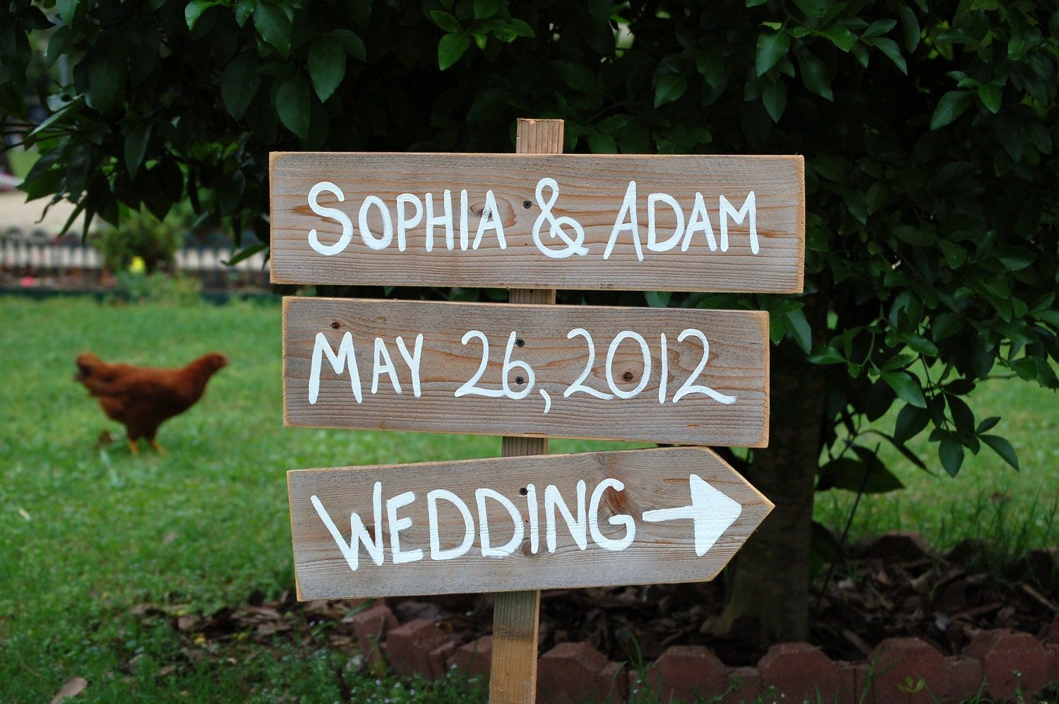 Name Date Wedding Sign Outdoor Weddings Hand By TRUECONNECTION