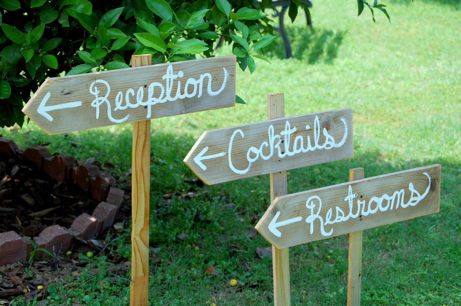 Reception Sign Cocktails Sign Restrooms Sign By TRUECONNECTION