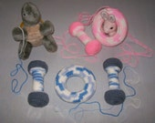 Dumbbell and O-ring Baby Toys - crochet PDF PATTERN