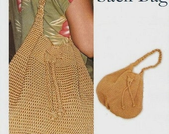 Crochet Bag pattern - Stylish Sack Bag, pdf pattern