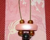 Pink Disc Art Deco necklace