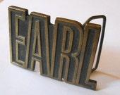 Earl Namesake Vintage Belt Buckle