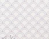 Olympus #7 Japanese sashiko kit cotton Seigaiha Waves WHITE