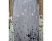 Long Silver Polka Dot Acid Dolly Skirt