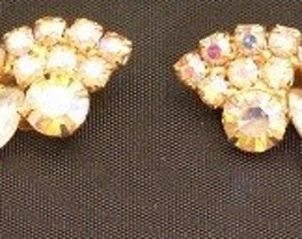 Vintage Rhinestone Earrings J032