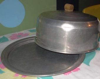 Vintage 1950's Aluminum Cake Carrier