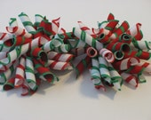 Christmas Stripes Korker Hair Bow