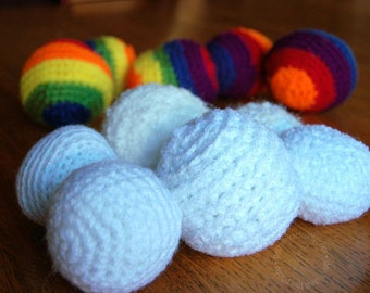 Pattern for Crocheted Snowball - or Rainball - PDF