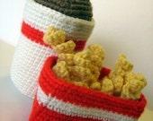 Crochet Fries and Shake Pattern - PDF