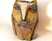 Owl Art, Art, Ceramic Owl, Owl Person, Ancient One, Wise One